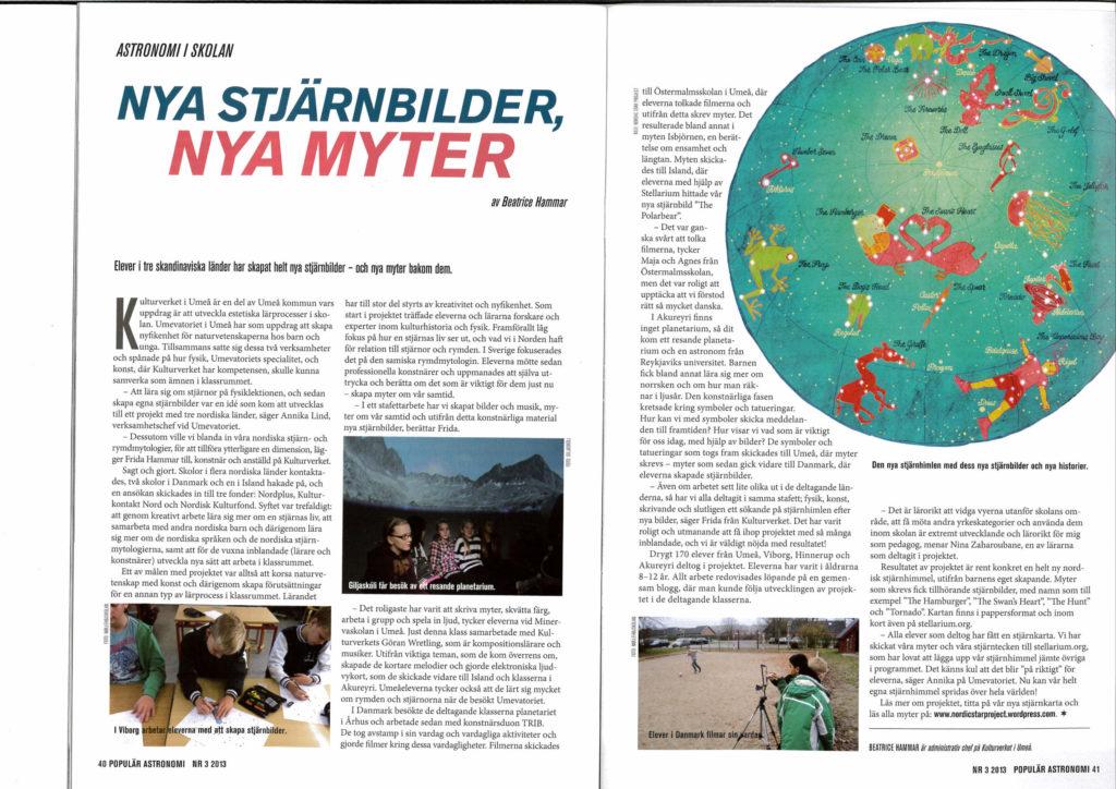 artikel i populär astronomi