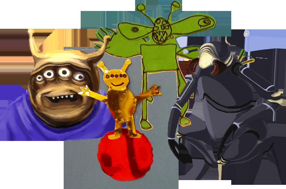 Figurer från spelet Utopia